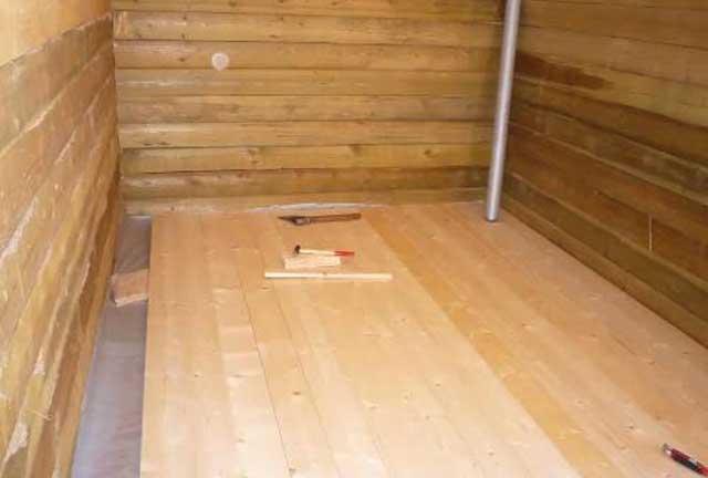 чистовой деревянный пол