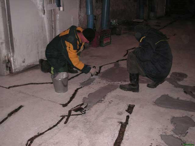 подготовка к укладке выравнивающей стяжки